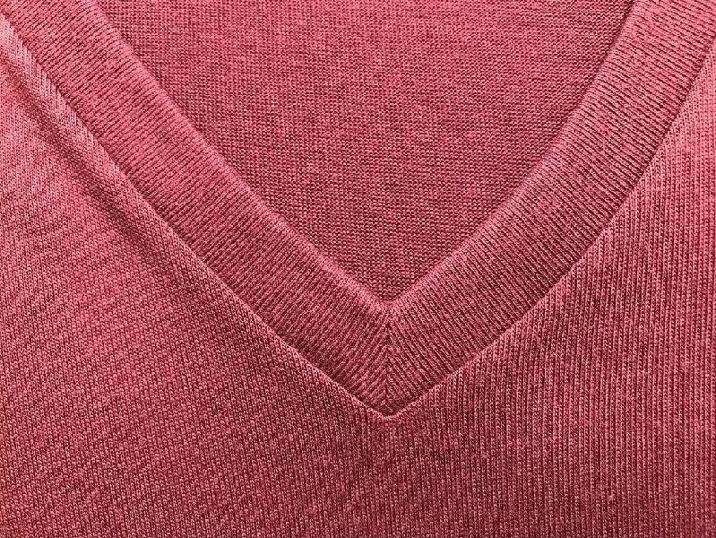 Mens Pink V Neck T-Shirt