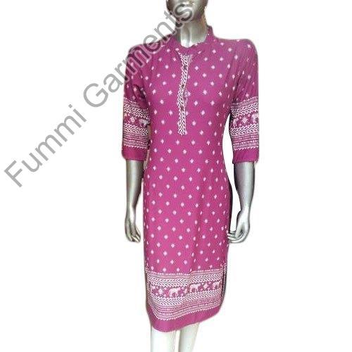 Ladies Rayon Printed Kurti