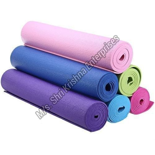 Solid Yoga Exercise Mats With Carrying Bag and Belt (198cm X 91cm X 1)