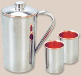 Copper Steel Jug Set (002)