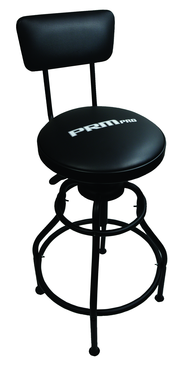 Adjustable Shop Stool with Back Support