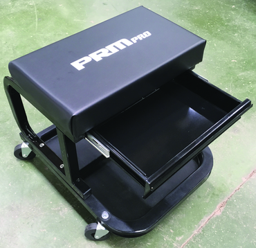 Mechanic's Roller Shop Stool with Drawer