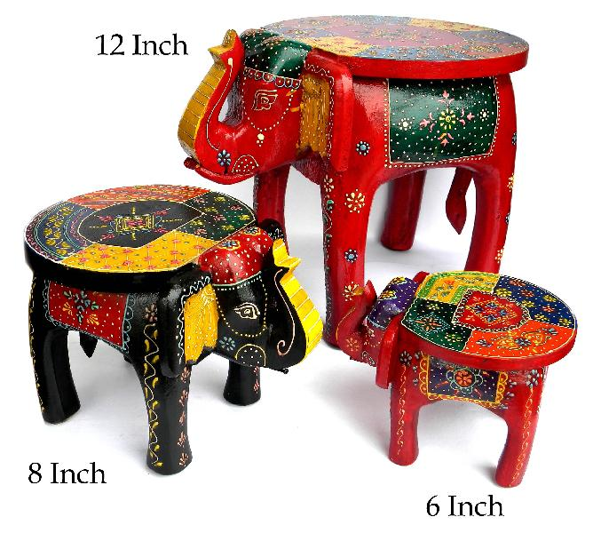 WOODEN STOOL ELEPHANT