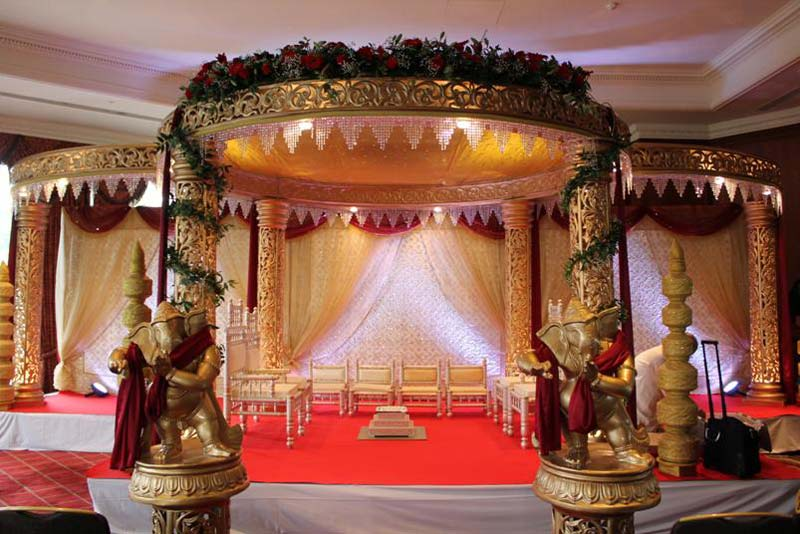 Fiber Golden Raj wedding Mandap