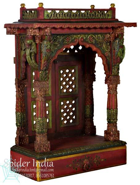 Handcrafted Teak Wood Pooja Home Mandir Temple