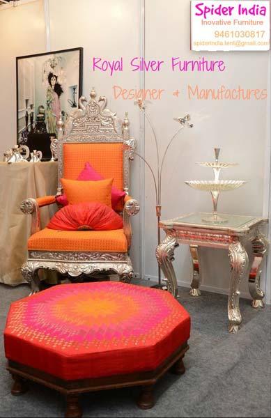Royal Silver Thrones & Chair