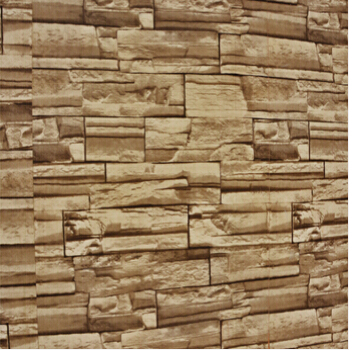 Hot Interior 3d Wallpaper In Popular Wood Brick Stone