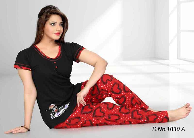 e1b3714245 Cotton Sinker Ladies Night Suit Manufacturer in New Delhi Delhi ...