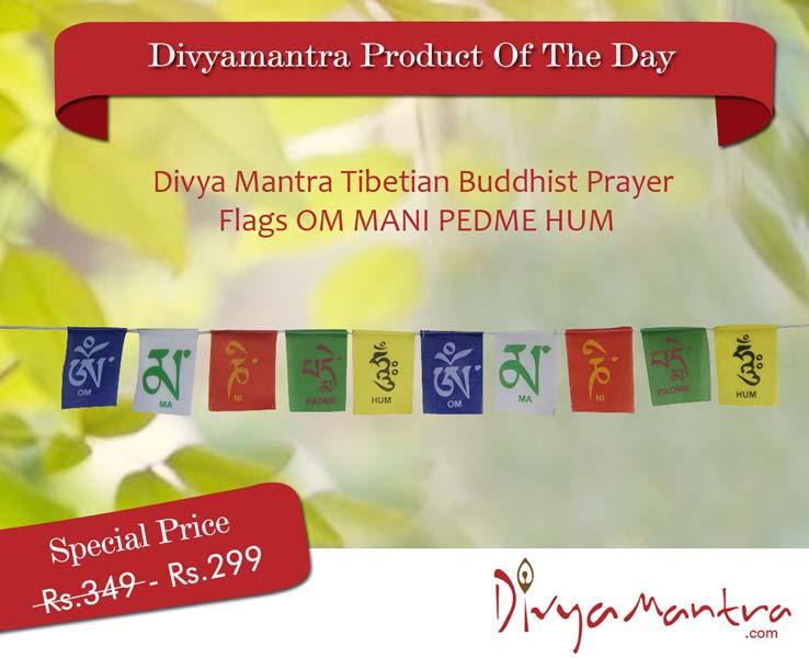 Divya Mantra Tibetian Buddhist Prayer Flags for Home (DVYM0003482)