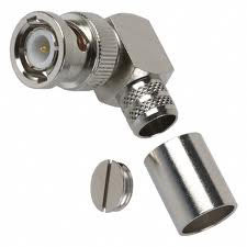 BNC male right angle crimp connector (SY804)