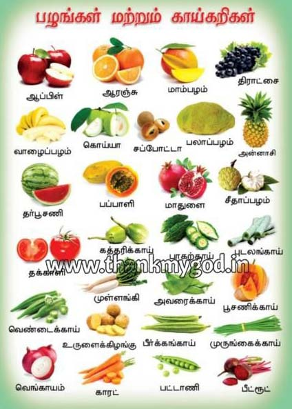 Fruits Vegetables Chart In Tamil G 42