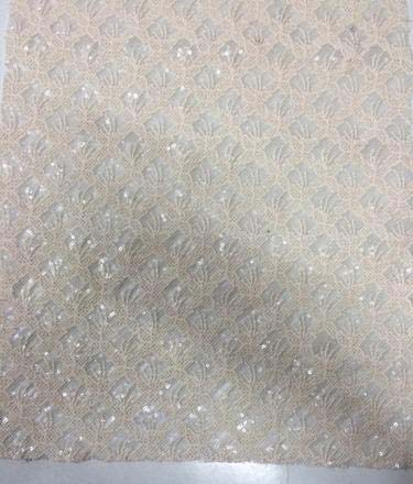 Embroidered Jacquard Silk Fabric