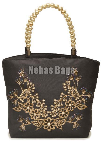 NHSB - 006 Pearl Bottom Silk Handbag (NHSB - 006)
