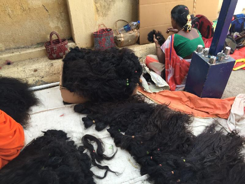 Temple Hair at Indian