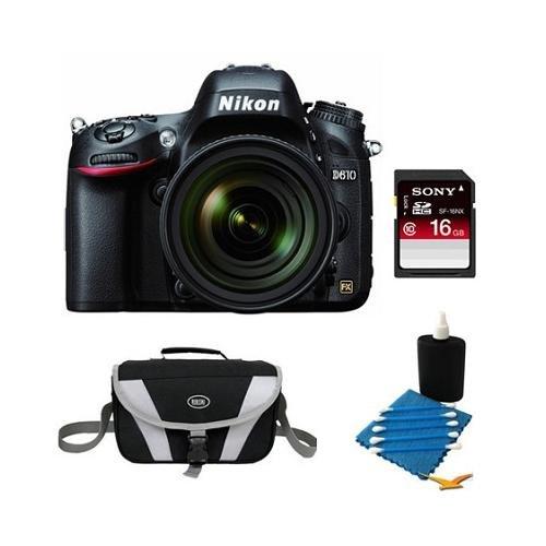 Nikon D610 FX-format 24.3 MP 1080p video Digital SLR Camera with AF-S NIKKOR 24-85mm f/3.5-4.5G ED V