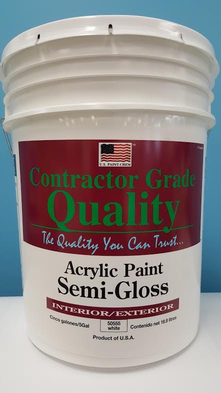 Acrylic Ext/int White Semi-gloss Paint (50555A)