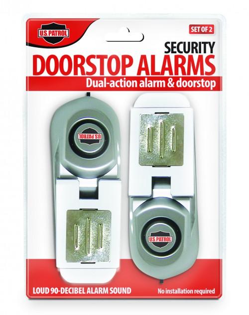 S/2 SECURITY DOORSTOP ALARMS