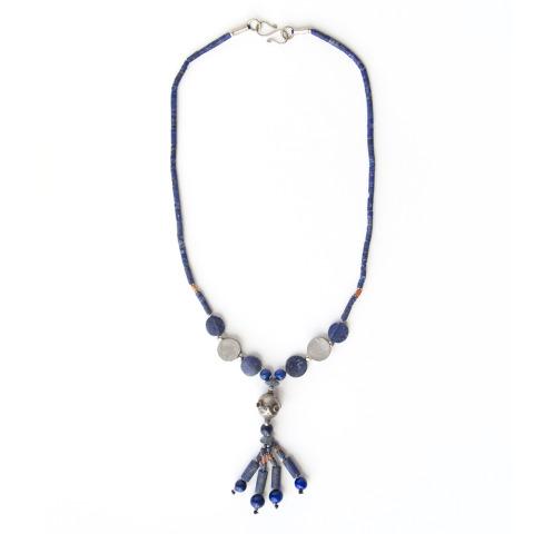Antique Afghan Lapis Necklace