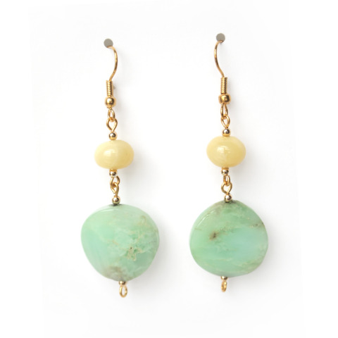 Chrysoprase Opal Earrings