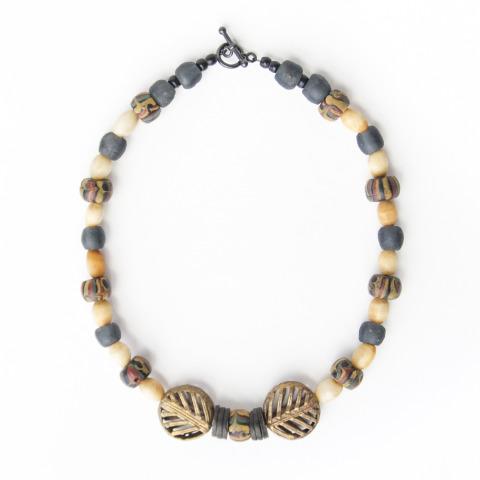 Ghana Eye Trade Bead Necklace