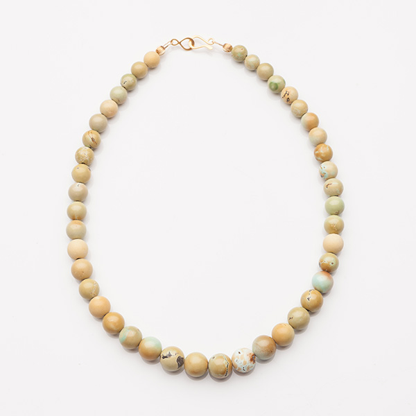 Gold Corrugated Beads Necklace
