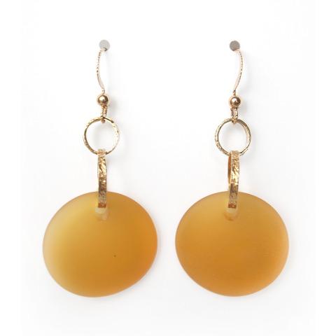 Gold Seaglass Earrings