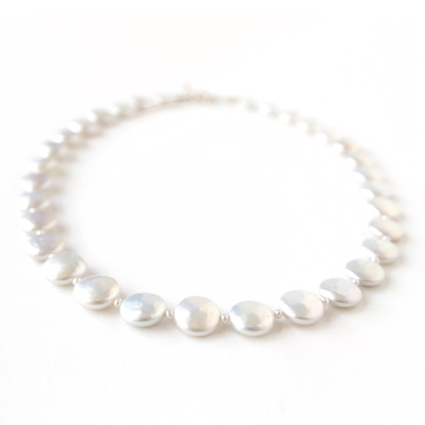 Pearl Round Coin Necklace