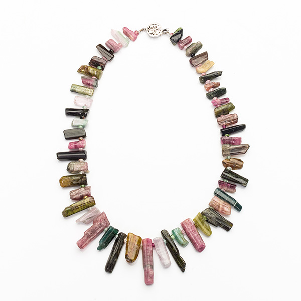Tourmaline Multicolored Fancy Drops Necklace