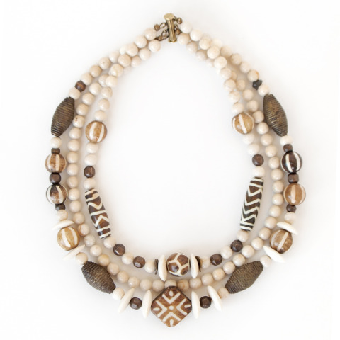 Triple Strand African Necklace