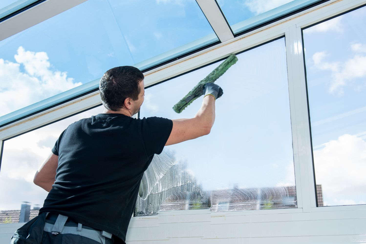 Window Cleaning Services : Services window glass cleaning from kerala