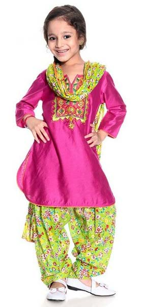 Girls Patiala Salwar Suit