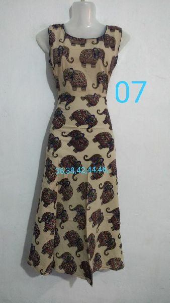 Handmade Kalamkari Cotton Umbrella Cut Kurti