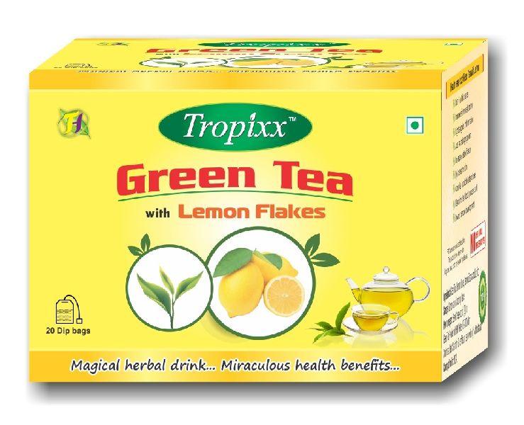 LEMON Flakes TROPIXX GREEN TEA