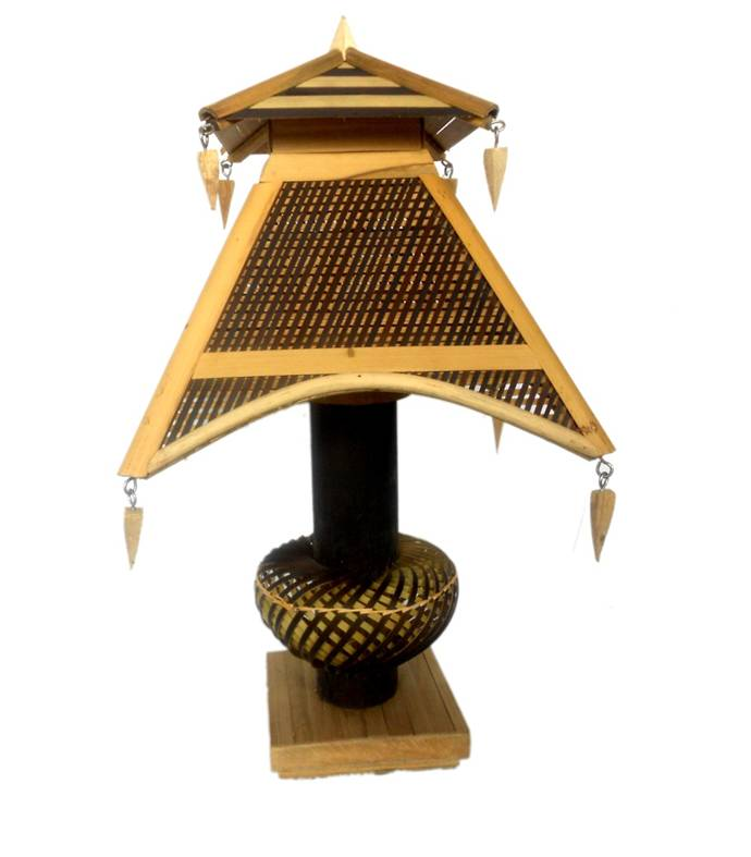 Bamboo table lamp manufacturer in west bengal india by creative bamboo table lamp aloadofball Images