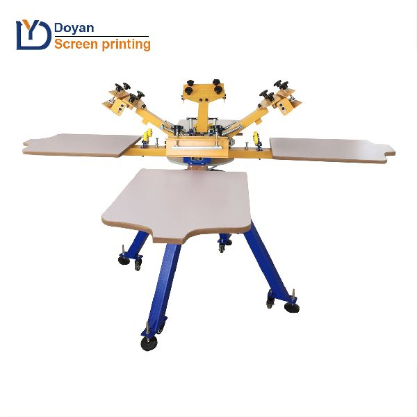 Best choice 4 color rotary t-shirt printing machine