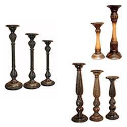Designer Wooden Candle Holders