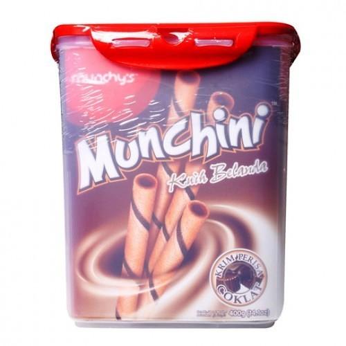 Munchini Wafer Sticks Chocolate Flavor Plastic Container