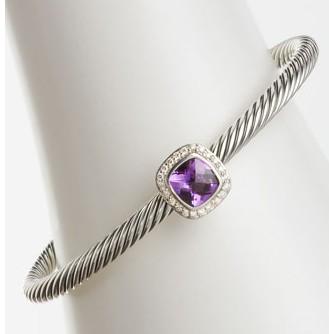 ec4228d6142a9 Buy David Yurman 4mm Amethyst Noblesse Bracelet from Jade Angel ...