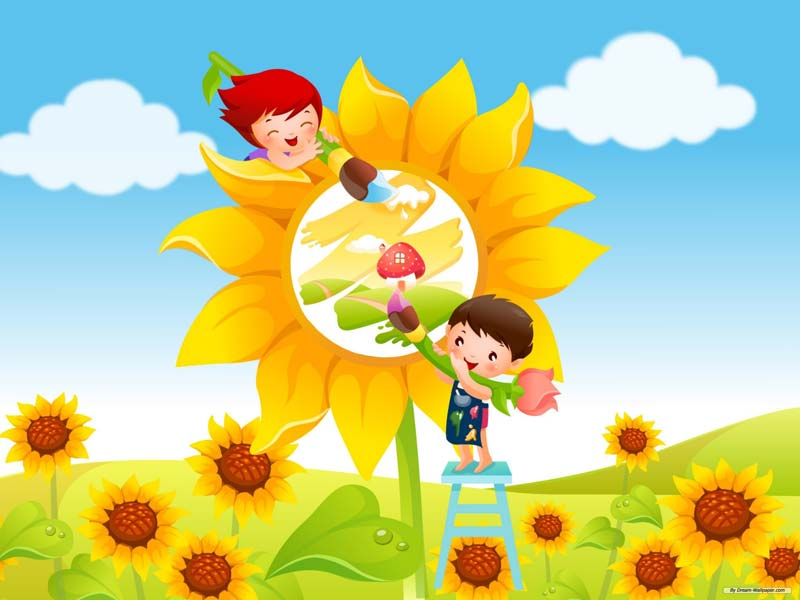 Playschool Cartoon Painting Works Manufacturer In Indore Madhya