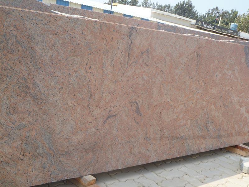 Pink Stone Slabs : Florecent pink granite slabs manufacturer in bangalore