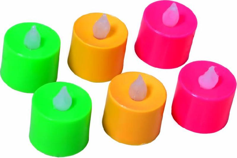 Multicolour Battery Operated Long Lasting Tea Light Candles