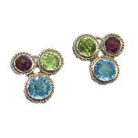 Colored Stone Earrings