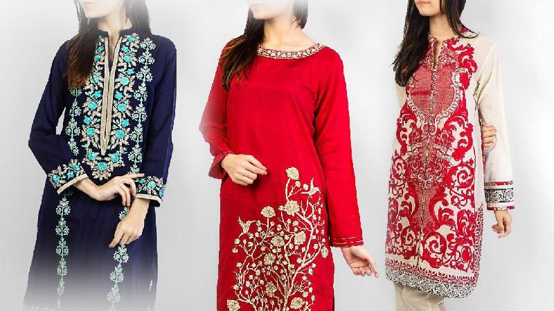 Embroidery Kurti Manufacturer In Delhi India By Khg Fabrics Id