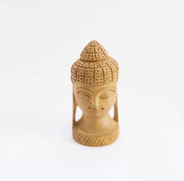 Crafted Buddha Head Handmade Statue