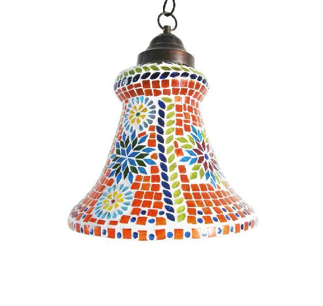 Orange Bell Mosaic Hanging Lamp (CKML29)