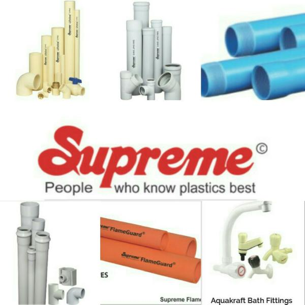 supreme plastic pvc pipes manufacturer in kanpur uttar pradesh india by mp kumar and company. Black Bedroom Furniture Sets. Home Design Ideas