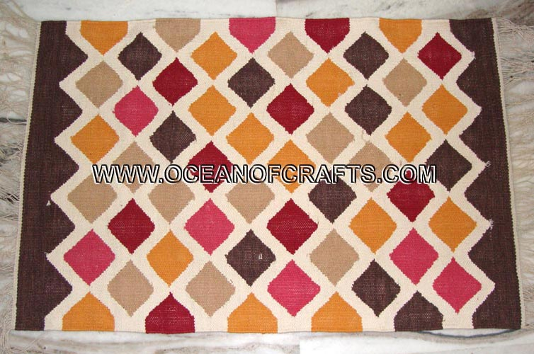 Buy Hand Made Cotton Rag Rugs From Shri Gokulesh Exports Agra