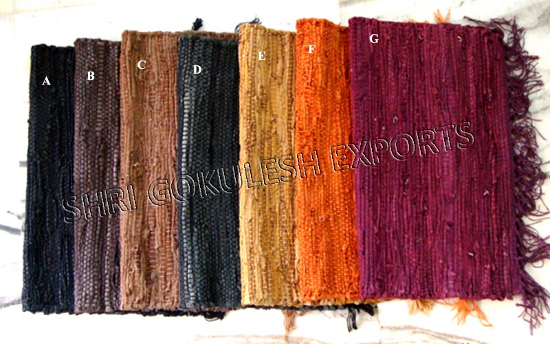 Woven Leather Rug From Shri