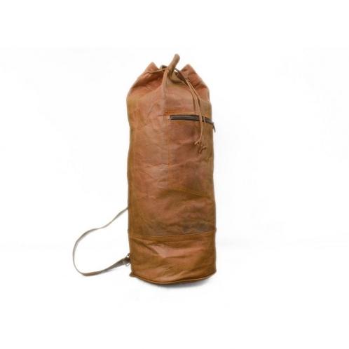 Vintage Leather Backpack Sling Bag