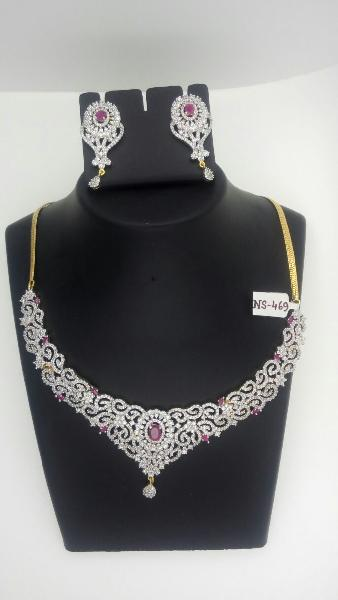 1341484e3 CZ Necklace Set Manufacturer in Hooghly West Bengal India by Kamala ...